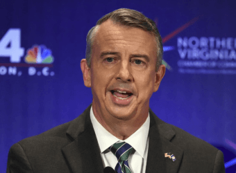 Ed Gillespie (R) speaks during a Sept. 19 debat